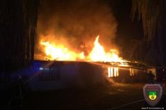 Brand in der Geiseltal Straße am 30.10.2016